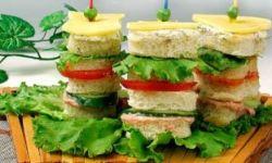 Башня из сэндвичей