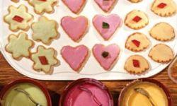 Бисквитное печенье с глазурью
