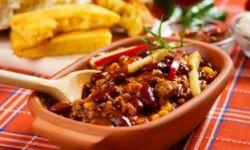 Чили из черной фасоли и баклажан