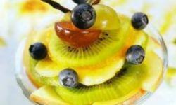 Десерт фруктовый с желе