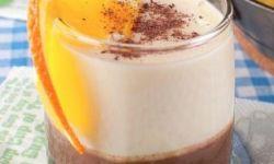 Десерт с кофе, шоколадом и йогуртом