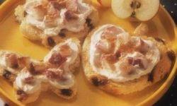 Фантазийные бутерброды с яблоками и корицей