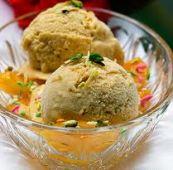Фисташковое мороженое с карамелизованной тыквой