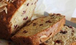 Яблочно-клюквенно-миндальный хлеб