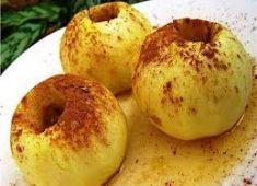Яблоки, запеченные в зеленом чае