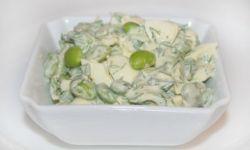 Яичный салат с бобами