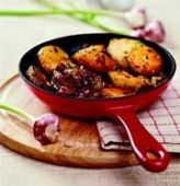 Карамелизированный картофель с сушеными томатами