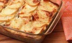 Картофельная запеканка с куриной начинкой