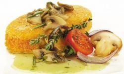 Картофельные зразы с капустой на грибном жульене