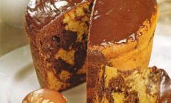Кулич ванильный с шоколадно-коньячной глазурью
