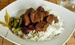 Куриное мясо с рисом