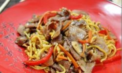 Ламиан с мясом и овощами