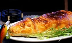 Лаврак (сибас) в тесте
