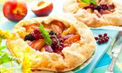 Мини-галеты с персиками