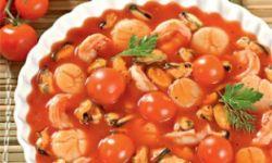 Морепродукты в томатной заливке