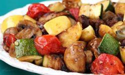 Овощи гриль, маринованные с чесноком