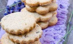 Песочное печенье с лавандой