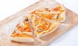 Пицца с нежной крабовой начинкой