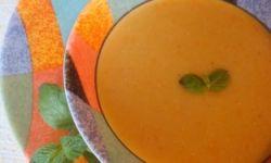 Пюре из красной чечевицы с овощами