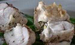 Рыба-черт, запеченная с чесноком