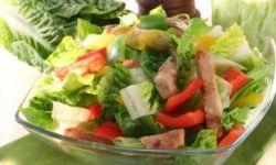 Салат из индейки с огурцами