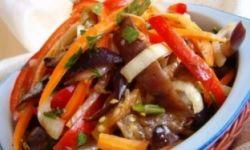 Салат из перца и баклажанов