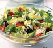 Салат с авокадо и соевым соусом