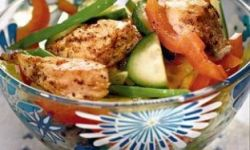 Салат с молодым картофелем и курицей