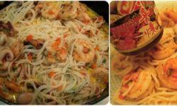 Сливочная паста с морепродуктами