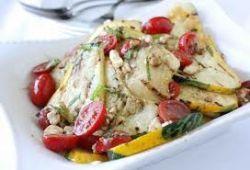 Теплый салат с цуккини и бальзамическим уксусом