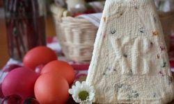 Творожная пасха с яичным кремом