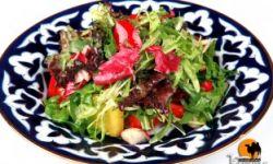 Восточный зеленый салат