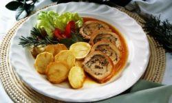 Жареное индюшиное филе с базиликовым соусом